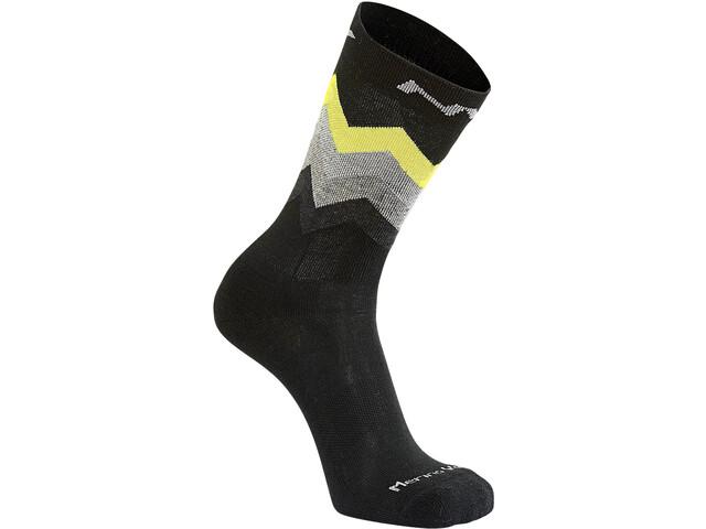 Northwave Core High-Cut Socken Herren black/yellow fluo